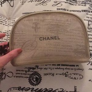 Chanel Beauty Gold Makeup Bag